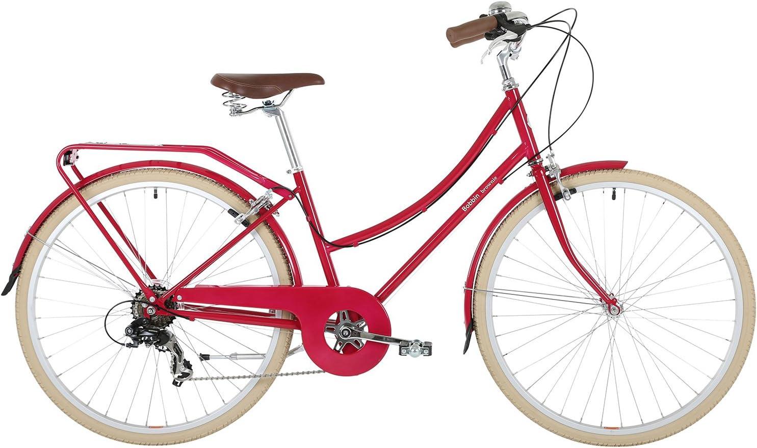 BOBBIN Brownie Bicicleta Urbana, Mujer, Rojo (Raspberry), 40 ...