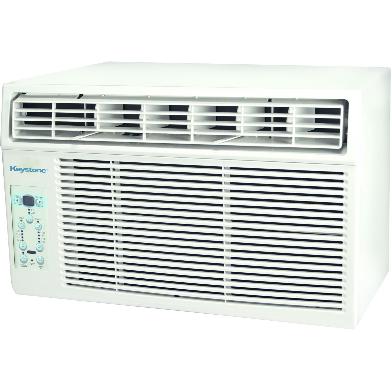 Keystone KSTAW06C 6000 BTU 115V Window-Mounted Air Conditioner with Follow Me LCD Remote Control