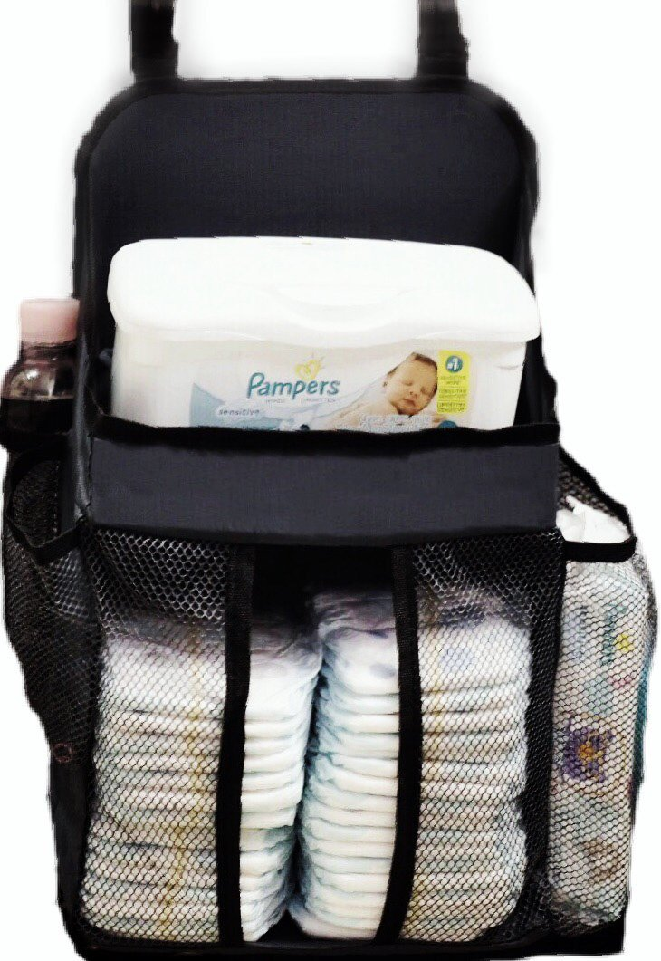 Hanging Diaper Caddy | Fits all Playards | Stores Lotions, Wipes, Diapers | Nursery Organizer