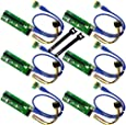 MintCell 6-Pack PCIe VER 006 PCI-E 16x to 1x Powered Riser Adapter Card w/ 60cm USB 3.0 Extension Cable & MOLEX to SATA Power Cable - GPU Riser Adapter - Ethereum Mining ETH + 2 MintCell Cable Ties