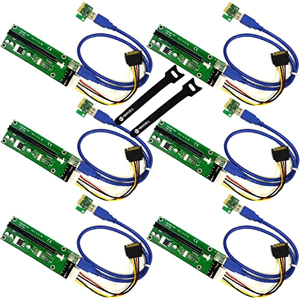 5 Pack PCI-E 1X TO 16X GPU Mining Extender Riser Cable Adapter US KS