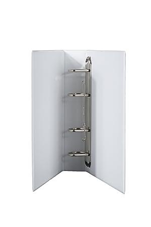 Archivadores DIN A5 4 unidades mecanismo PVC en blanco lomo de 70 mm ancho, altura de relleno 50 mm, 2 unidades: Amazon.es: Oficina y papelería