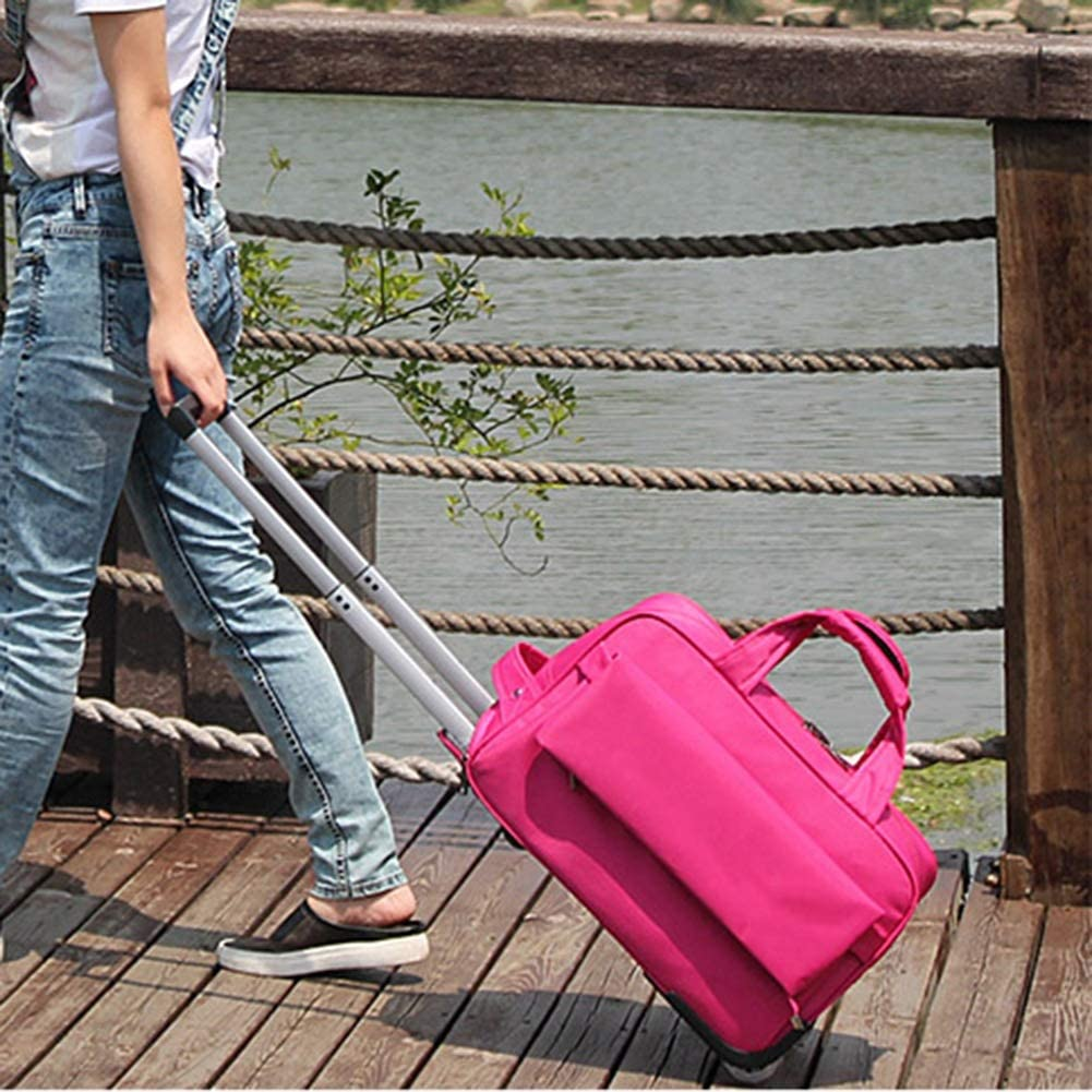 Color : Rose Red, Size : 20 inches Travel Trolley Case Suitcase Spinner Hand Luggage Check-in Hold Luggage Expandable Strong Lightweight Multifunction Oxford Cloth Luggage Portable Travel GAOFENG