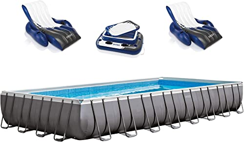 Intex 32ft x 16ft x 52in Ultra Pool w/ Reclining Loungers Mega Chill Cooler