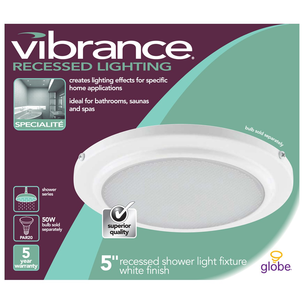 Amazon 5 bathroom shower dimmable downlight recessed lighting amazon 5 bathroom shower dimmable downlight recessed lighting kit tempered frosted glass easy install push n click clips globe electric 90036 home aloadofball Image collections
