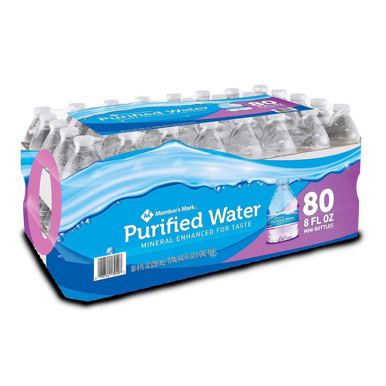 Member's Mark Purified Water 8 oz. bottle, 160 pk.