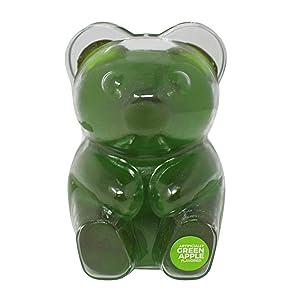 Albert's Big Bite Jumbo Green Apple Flavored Gummy Bear, 12 Ounce, 4 Inches Tall