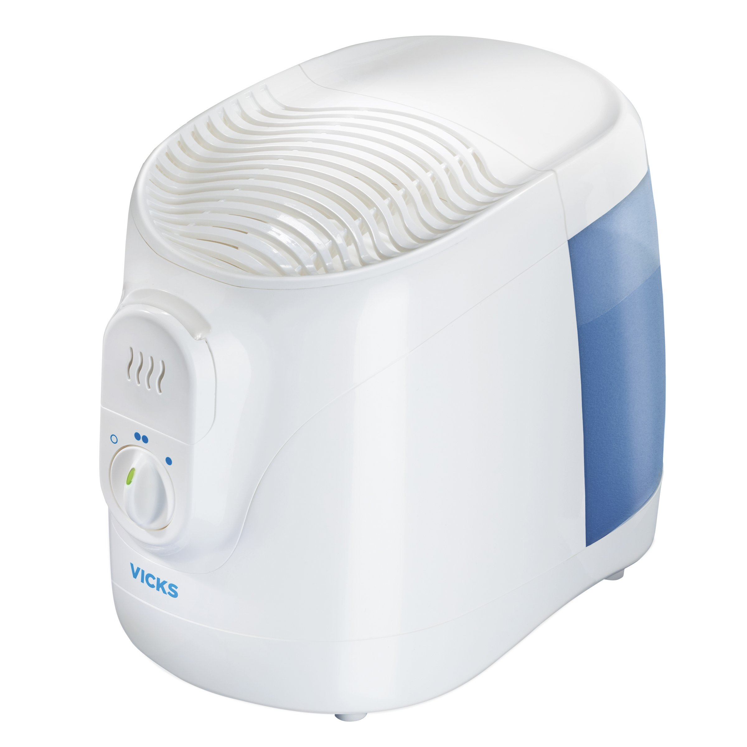 Vicks Filtered Cool Moisture Humidifier Filtered Humidifier for Bedrooms, Baby, Kids Rooms, Auto-Shut Off, 0.8 Gallon Tank for Medium Sized Rooms, Use with Vicks VapoPads