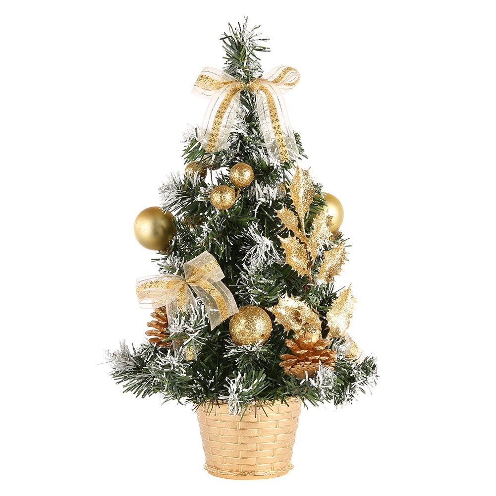 Wingbind Small Christmas Desk Tree, Golden/Blue/Red/Silver Christmas ...
