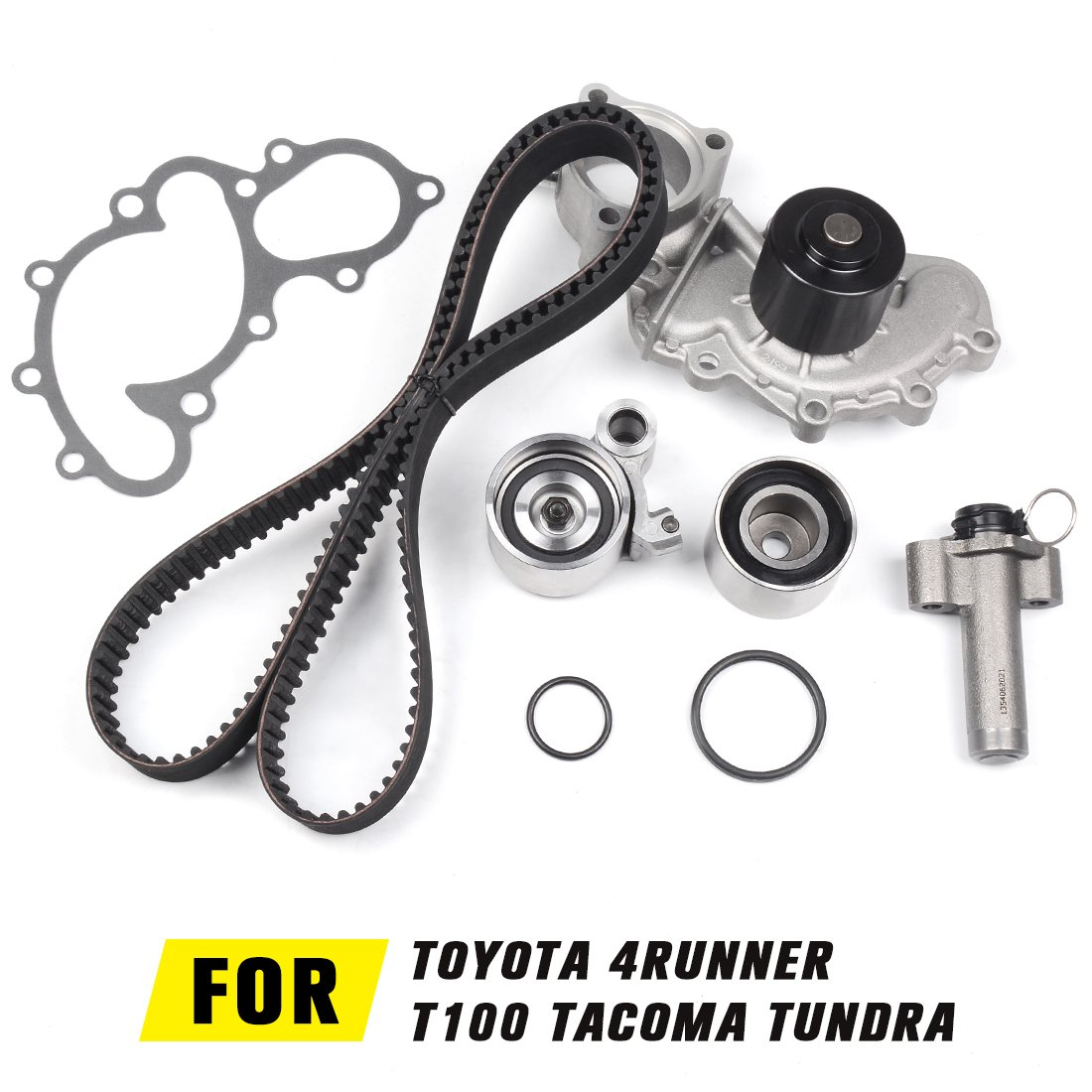 Tkt 025 Engine Timing Belt Kit With Water Pump For Toyota 4runner 1996 2002t100 1995 1998tacoma 2004tundra 2000 2004 34l V6 Automotive