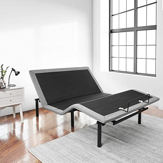Amazon Com Ruuf Adjustable Bed Base Independent Head And Foot Incline Control By Wireless Remote Smooth Silent Operation No Tools Required Assembly Queen Kitchen Dining