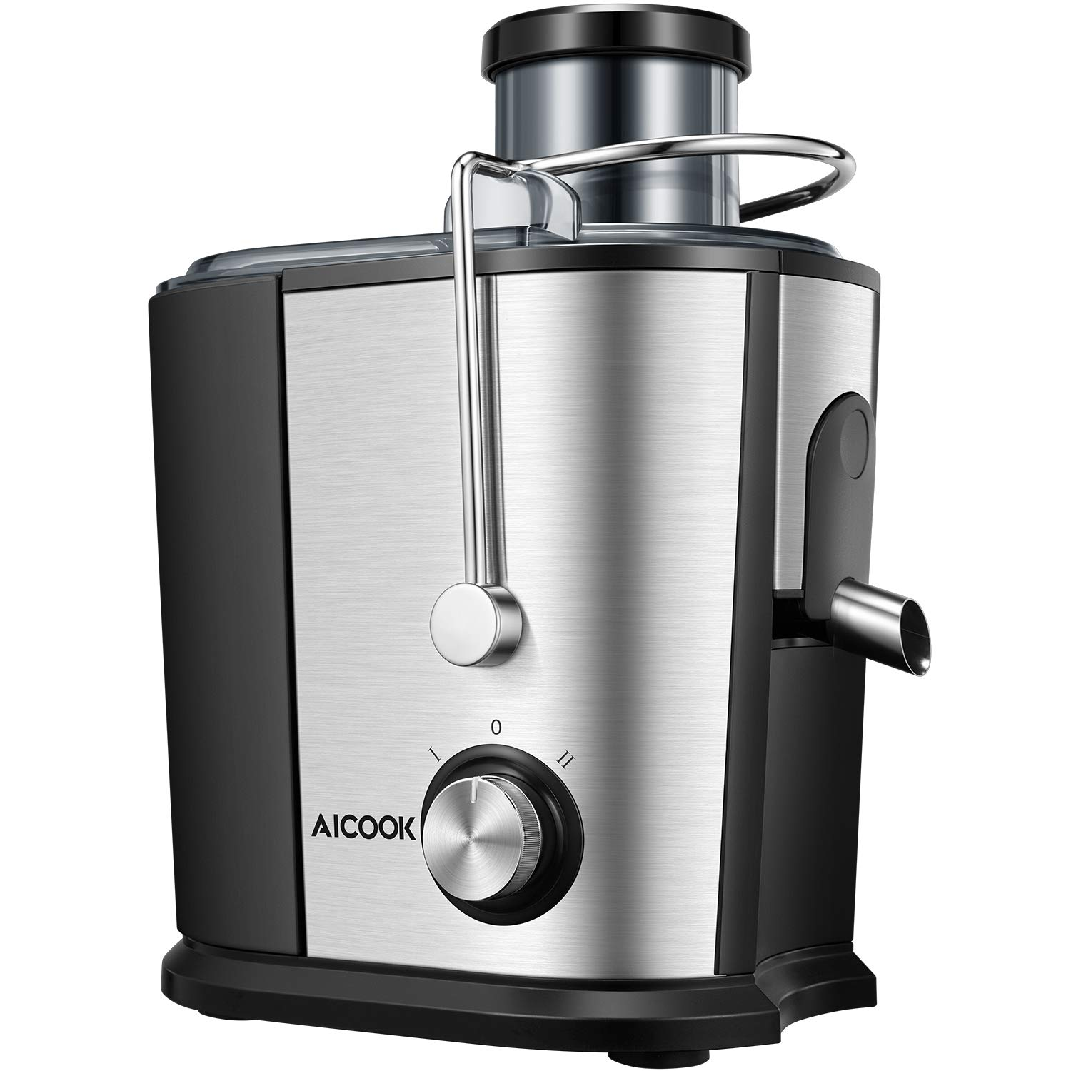 Juicer Juice Extractor, Aicook Wide Mouth Juicer Machine BPA-Free, Dual Speed Setting Centrifugal Juicer with Anti-drip Function, Stainless Steel Compact  Juicers for Whole Fruits and Vegetables