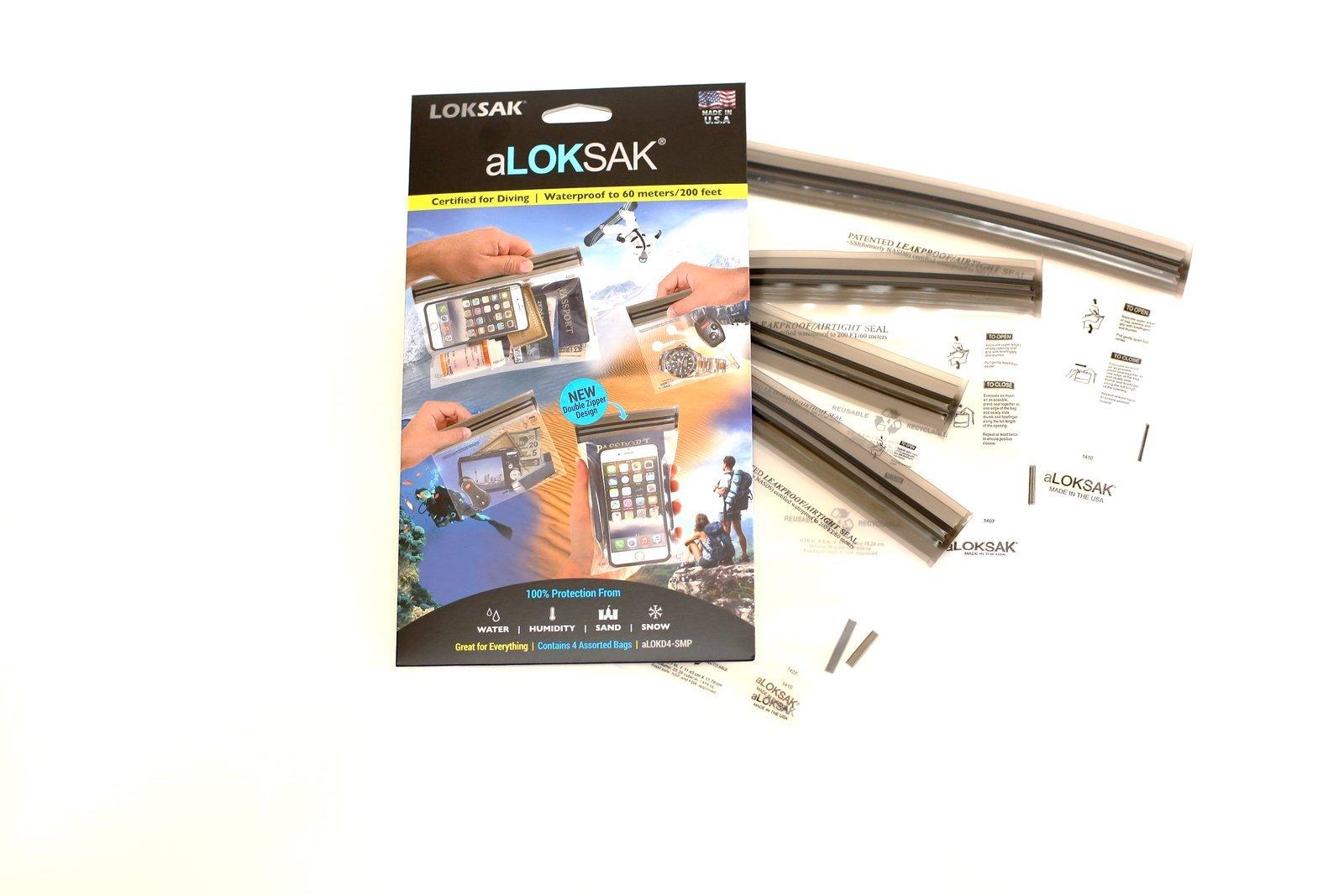 aLOKSAK LOKSAK Waterproof Bags - Small Multipack (4.75'' x 4'', 4''x 6.5'', 6.25''x 5.25'',8.4''x 5.25'',8.4''x 5.25'')