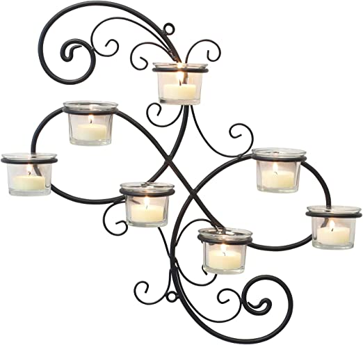 BULK LOTS White Iron Scrollwork Votive Candle Lanterns