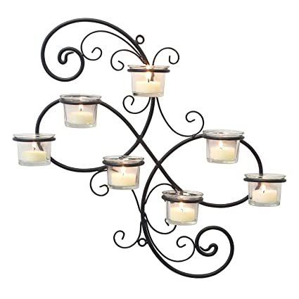 Amazon stonebriar transitional scrolled ivy tea light candle stonebriar transitional scrolled ivy tea light candle holder hanging wall sconce modern home decor for aloadofball Images