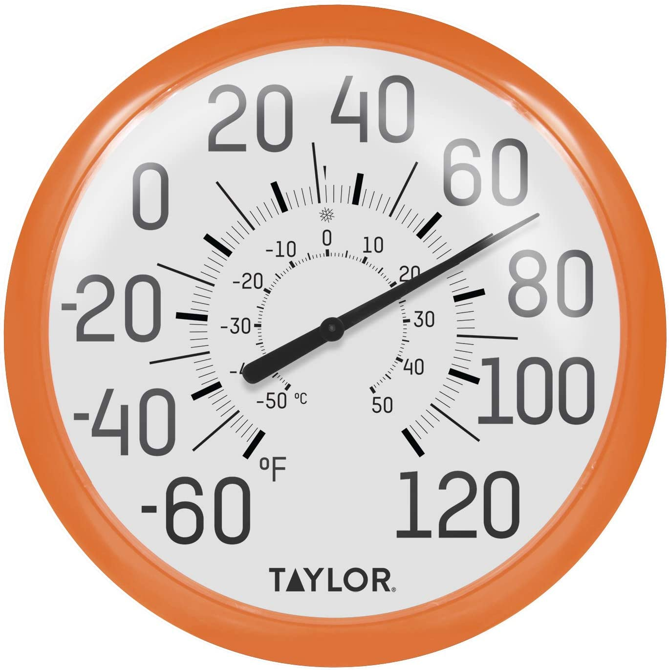 Amazon Com Taylor Precision Products 6700or Big Bold Wall Thermometer 13 25 Orange Garden Outdoor
