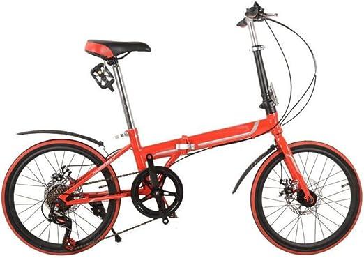 Freno De Disco Plegables Del Coche De 20 Pulgadas Bicicleta Plegable De Lujo Plegables Bicicleta Mini Estudiante Equipo Del Montar A Caballo Del Regalo Del Coche De La Bicicleta,Orange-26in: Amazon.es: Hogar