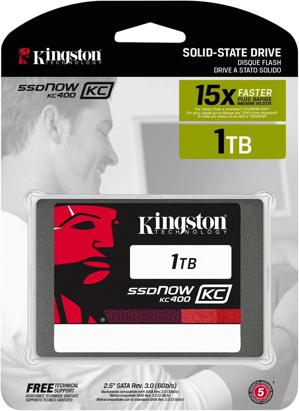 Kingston KC400 SSDNow - Disco Duro sólido de 1 TB (SATA 3, 2.5