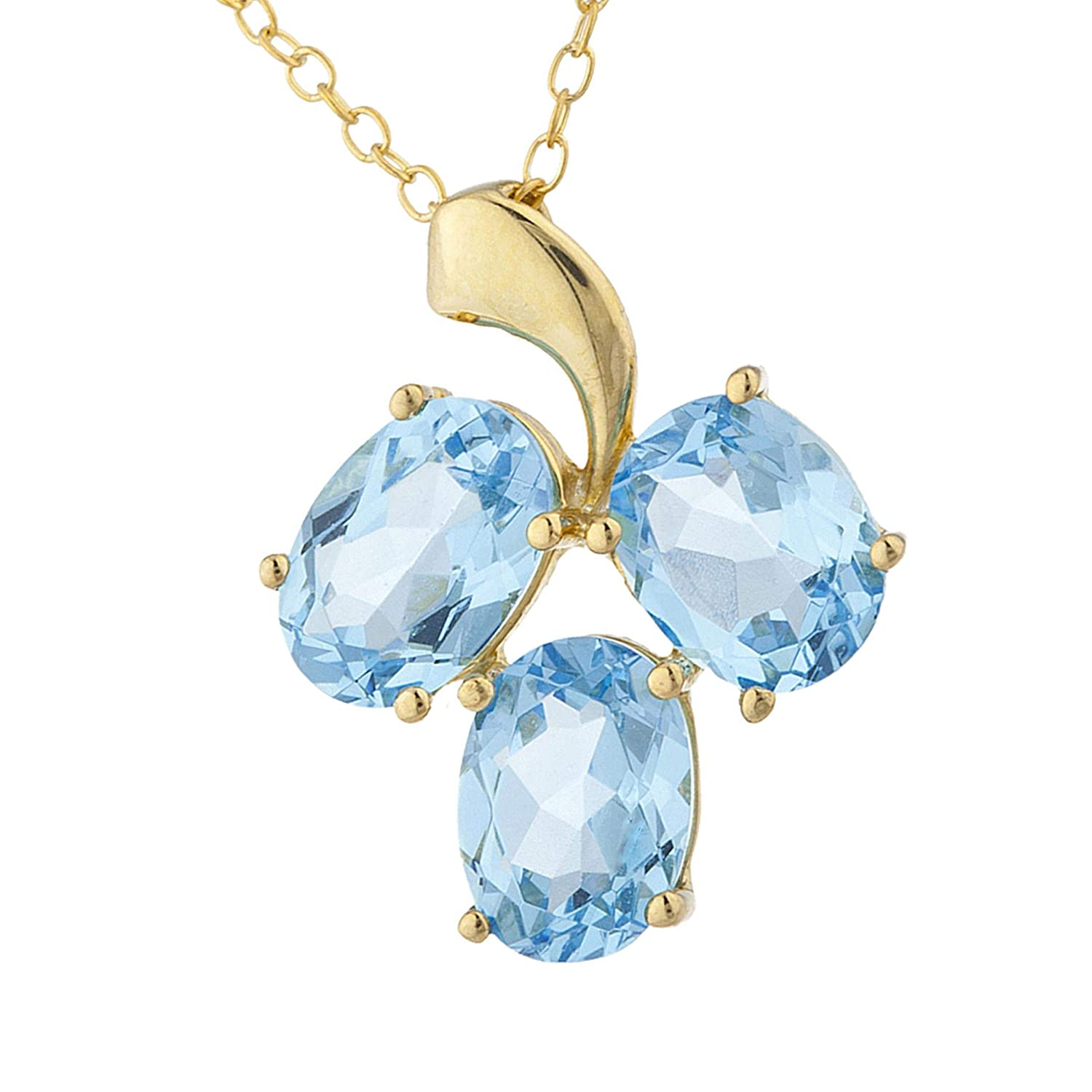 Oval Earrings Blue Simulated Topaz .925 Sterling Silver Pendant Set
