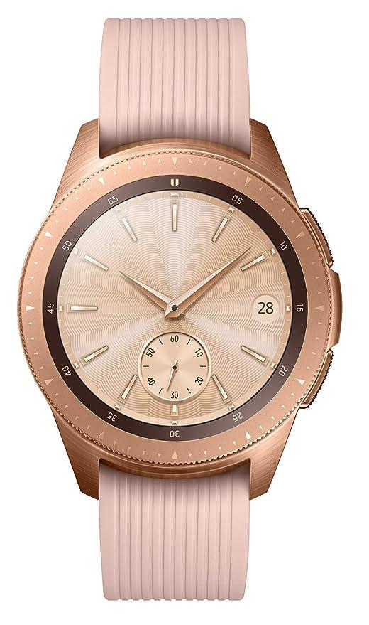 b985f836f31d Samsung Galaxy Watch 42mm - UK Version - Rose Gold  Amazon.co.uk   Electronics