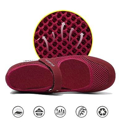 Amazon.com: EXEBLUE Zapatos de mujer casuales para caminar ...