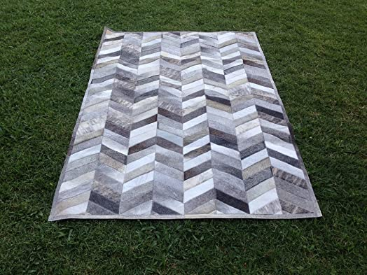 Premiumcowhide New Cowhide Rug Leather. Animal Skin Patchwork Area Carpet 9 x 14