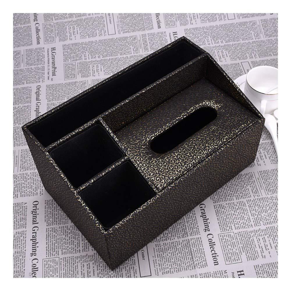 SHUCHANGLE Tissue Box Halter Halter Halter Kosmetiktücher-Box Leder Vintage Haken Blaumenmuster Desktop Organizer Multifunktionsspeicher Serviettenhalter Für Wohnzimmer Wohnzimmer B07NSST1NL Toilettenpapieraufbewahrung 0b2632