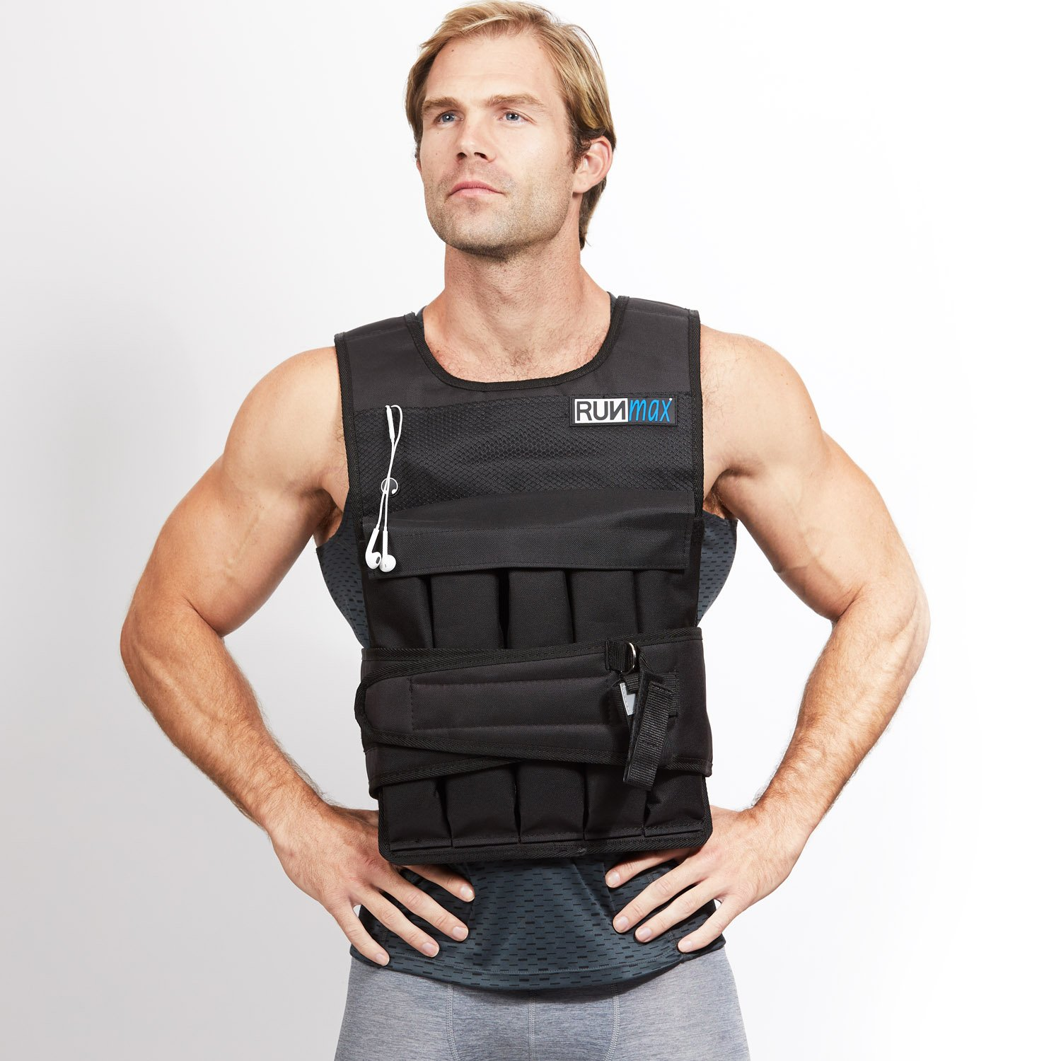 RUNmax 12lb140lb Weighted Vest (Without Shoulder Pads, 50lb)