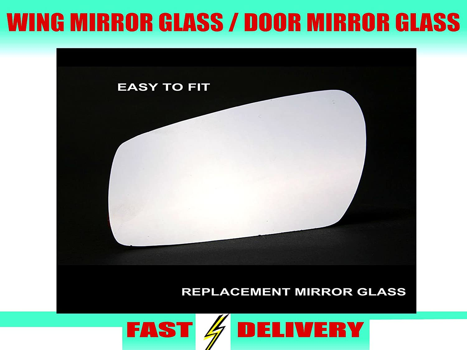 Wing Mirror Glass Drivers Side Offside Door Mirror Glass Amazon