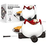 THE SHARPER IMAGE Flameless Marshmallow S'mores Maker, Includes Four Forks and Easy Cleaning Parts, Indoor Safe, Electric, Fo