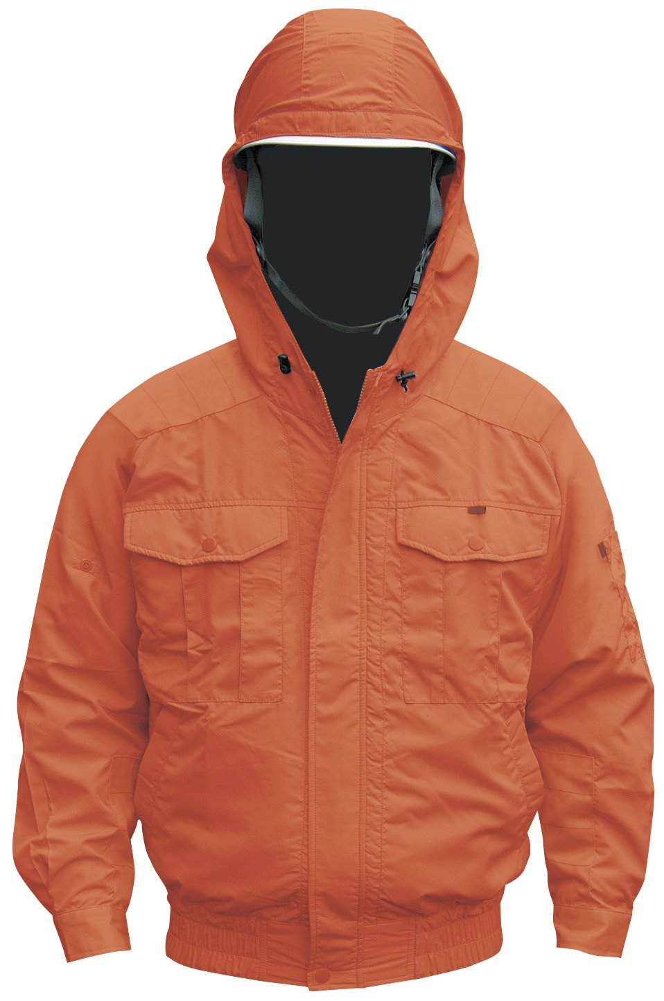 NSP 空調服 服単体 チタンコーティング フード付 肩袖補強あり オレンジ サイズM 8207899 B00U5S73LQ M|オレンジ