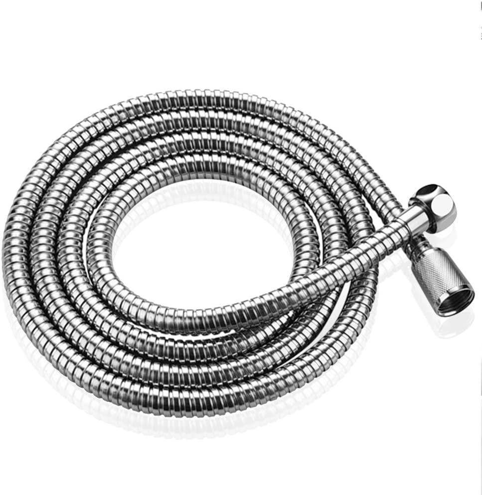 House Bath 150/cm Showers Shower Hose Double Lock 1//2-Inch Shower Hose for Shower Head Chrome Includes 2/Sealing Rings