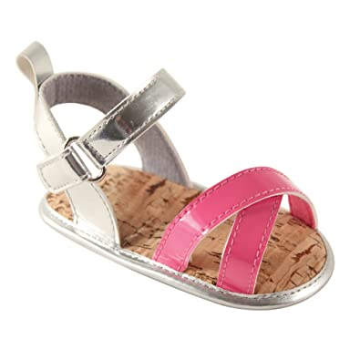 cfebea6ec Luvable Friends Girls Bright Strappy Sandals (Infant)