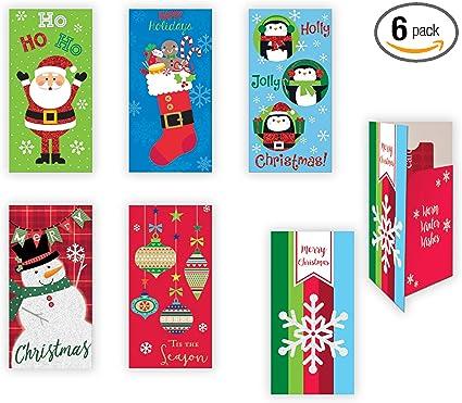 Amazon.com: Juego de tarjetas de regalo adornadas para ...