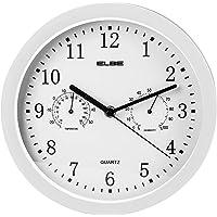 Elbe RP-2005-B Reloj de pared con termómetro e