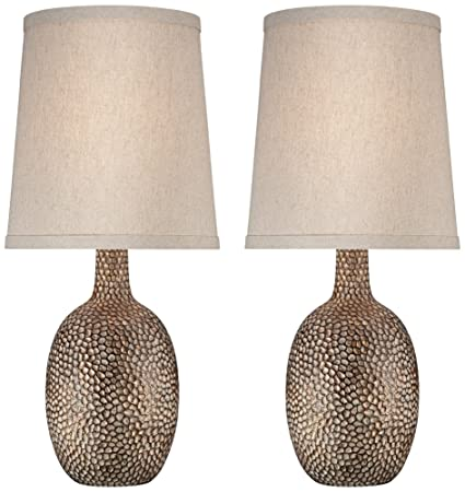 Ordinaire Chalane Hammered Antique Bronze Table Lamp Set Of 2
