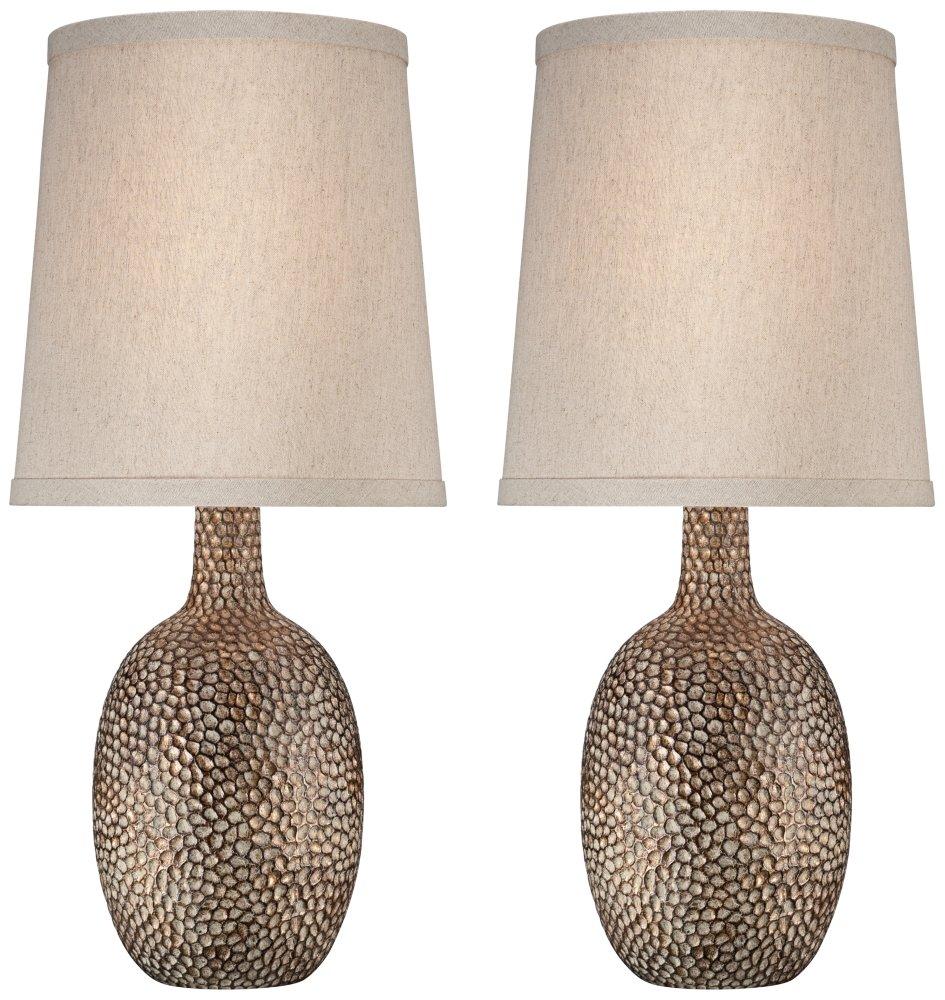 Chalane Hammered Antique Bronze Table Lamp Set of 2
