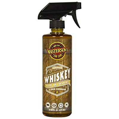 MASTERSON\'S CAR CARE MCC_120_16 Whiskey Scent Air Freshener & Odor Eliminator (16 oz): Automotive [5Bkhe0417220]