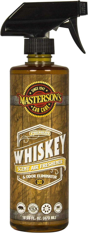 Birthday Gift - MASTERSON'S CAR CARE MCC_120_16 Whiskey Scent Air Freshener & Odor Eliminator (16 oz)