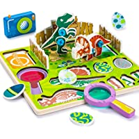 Cute Stone Wooden Dinosaur Puzzles for Toddlers 2.5 D Chunky Pegged Puzzles