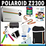 Polaroid Z2300 10MP Digital Instant Print Camera (White) with 8GB Card + Pouch + Tripod + Zink Paper (30 Pack ) + Straps + Accessory Kit