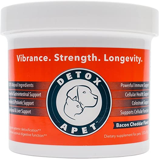 DETOXA-PET Powder, Powerful Nutritional Supplement for Pets, Works Wonders Dog Cat Detox, Liver Detox for Dogs, Cats,10 Bill CFU Probiotics, Enzymes, Herbs, Vitamins, Minerals, Immediate Benefits