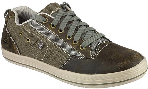 SkechersDefine - Mahan - Botines Hombre, Color Marrón, Talla 39.5: Amazon.es: Zapatos y complementos