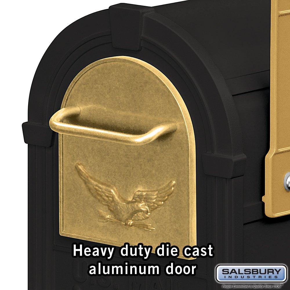 Salsbury Industries 4855E-BLG Eagle Rural Mailbox, Black/Gold Eagle