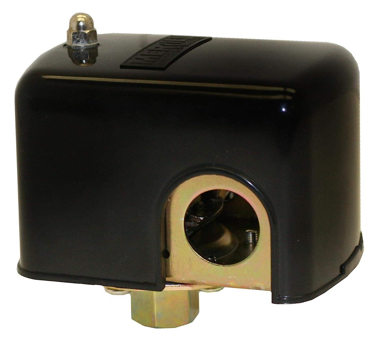 Plastic Merrill MFG MPSM44060 40//60 No-Lead Low Water Cutoff Pressure Switch with Manual Lever Metal 4.12 x 4.03 x 3.69