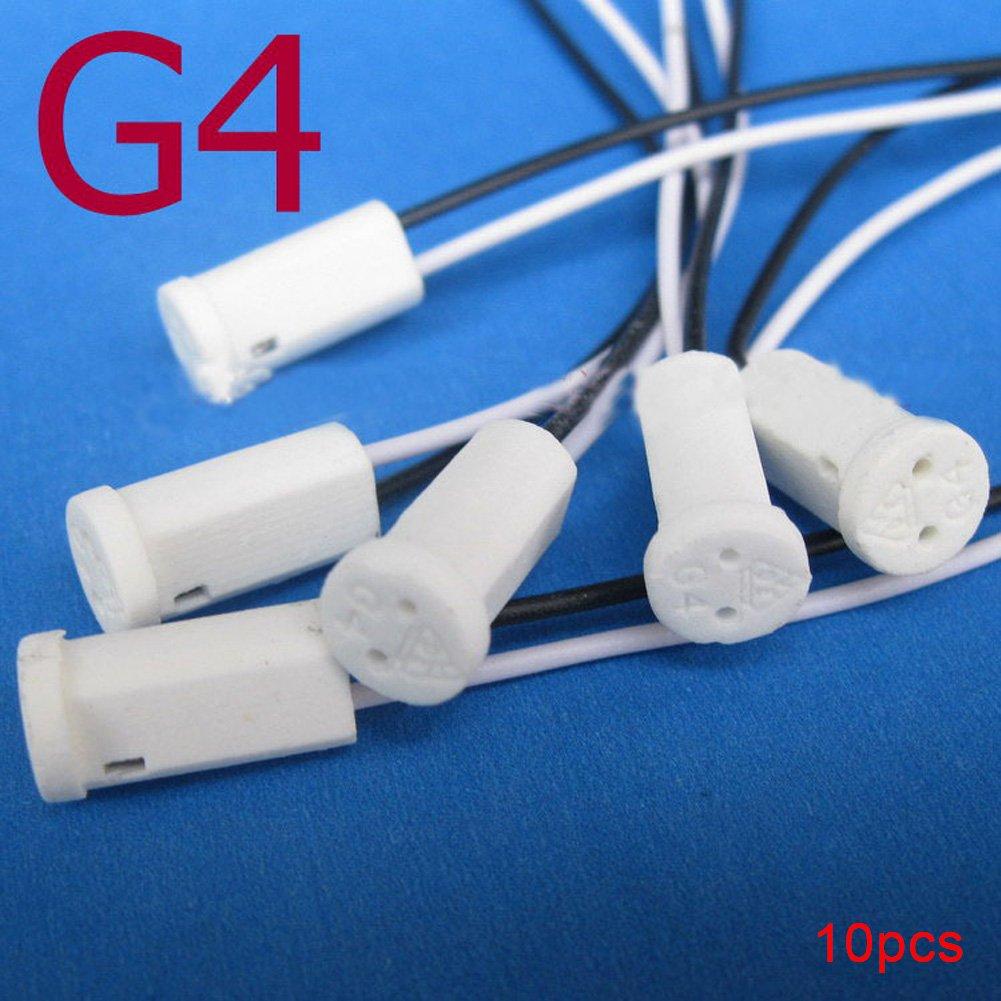 luci luci Bay griglia LED a soffitto White 10PCS 50/cm bianco cristallo di quarzo Crystal portalampada in ceramica lampadina attacco G4/per lampadine alogene luci