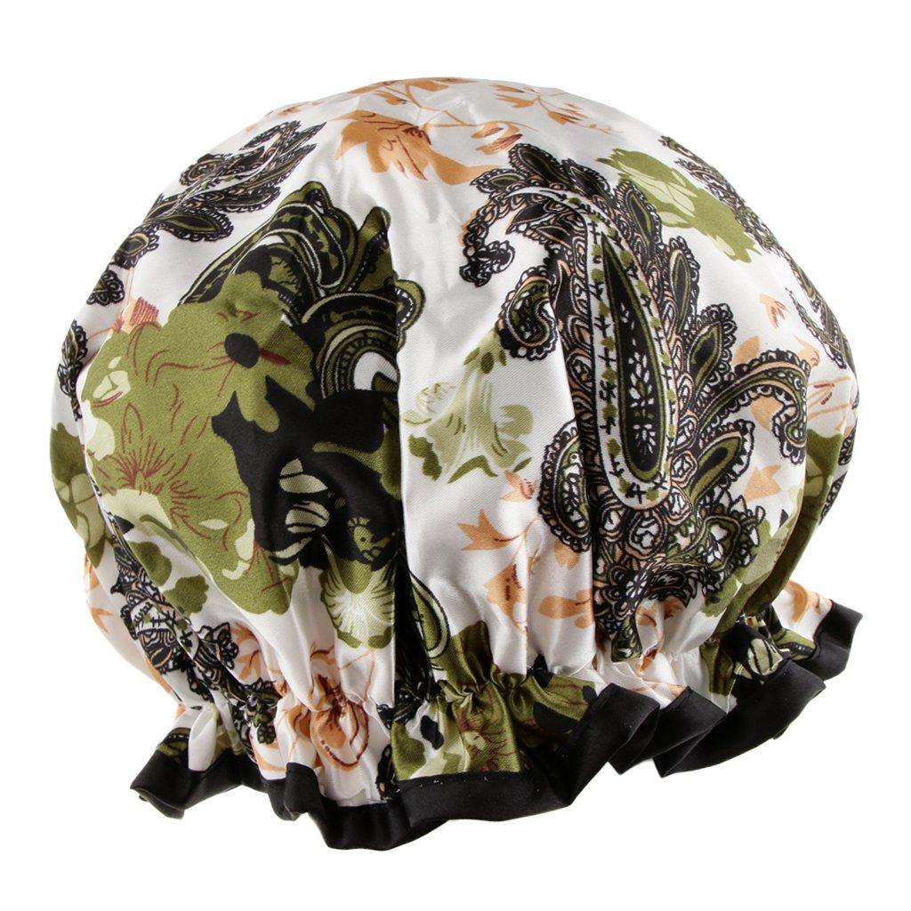 MagiDeal Imperméable Bonnet de Douche Femme Shower Cap Bonnet de Bain en Plastique Epais Elastique pour Soins de Cheveux Longs et Courts