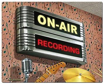 Amazon.com: Losea On Air Recording Retro Vintage Carteles de ...