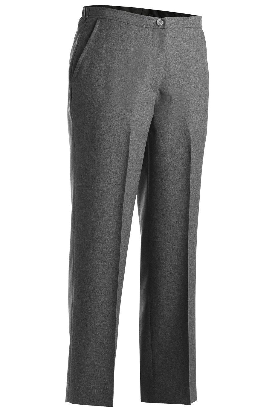 Edwards Garmentレディースパフォーマンスフラットフロントパンツ B07BTHYMFT 28W グレー グレー 28W