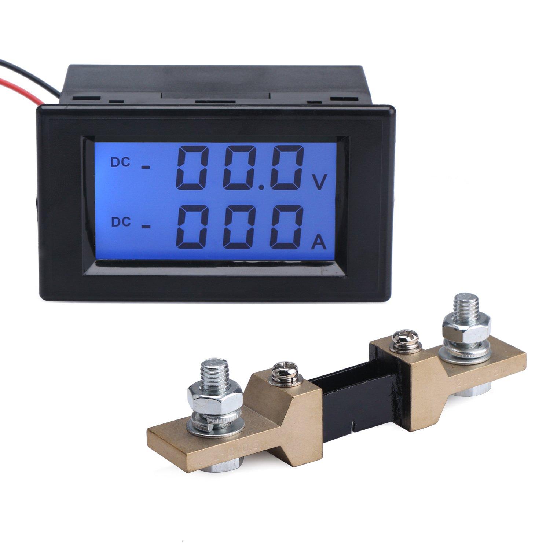 Drok - Multímetro con pantalla LCD digital dual para medir tensión CC, amperios, voltios, etc.: Amazon.es: Coche y moto